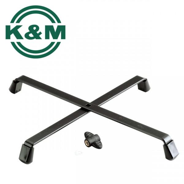 K&M Kreuzfuß 17700 schwarz