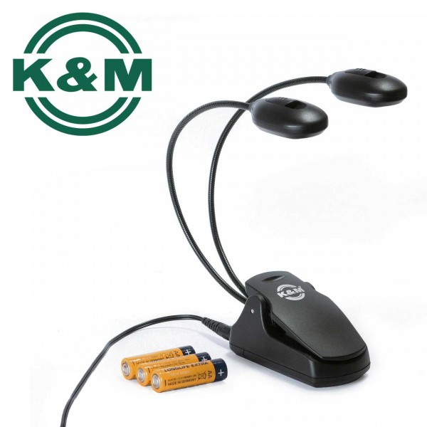 K&M Notenpultleuchte Twin Head 12270