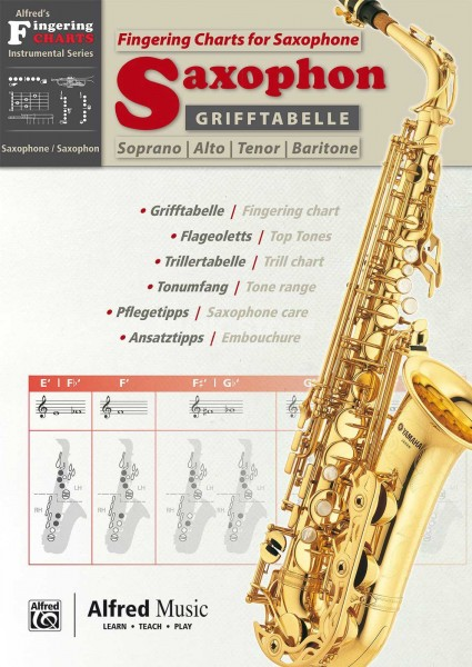 Grifftabelle Saxophon Alfred Music