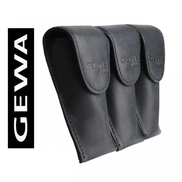 Gewa 3er-Mundstück-Tasche Trompete, schwarz